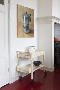 Interieur schilderij Percolator di Vocelli, olieverf op doek, 80 x 60 cm, Serge de Vries 2