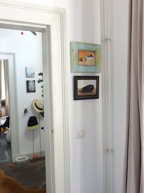 Interieur schilderijen aubergine en tube verf nr2 for Interieur aubergine