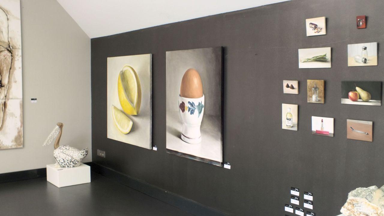 Galerie Mi Bilthoven expositie Serge de Vries, sint en kerst 2016
