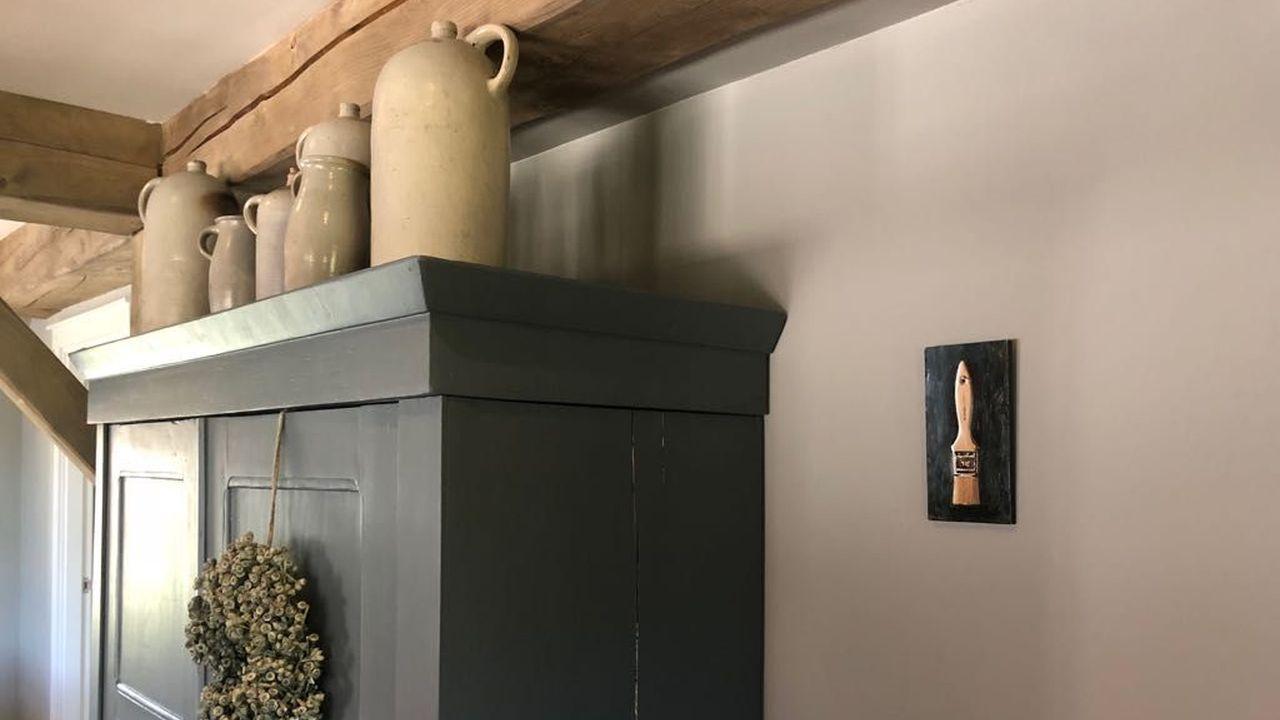 Schilderij Spalter in woonboerderij