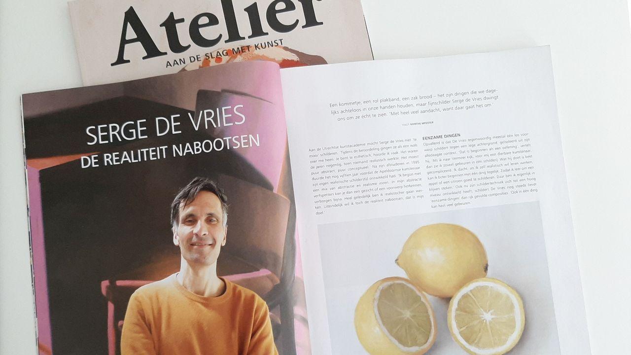 Magazine Atelier juli 2021, interview Serge de Vries (header)